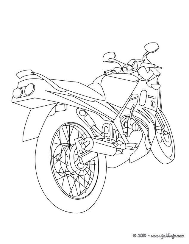 Dibujos Para Colorear Moto De Carrera Eshellokidscom