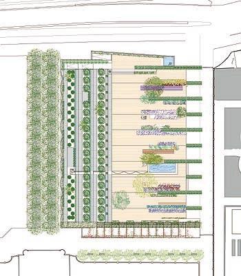 Planta general del jardín/Ground plan of the garden