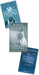 Le copertine dei tre libri più recenti sul segreto di Fatima