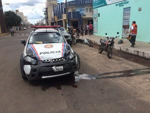 Viatura da PM atropela e mata motociclista em Imperatriz (Foto: Divulgação/SSPMA)