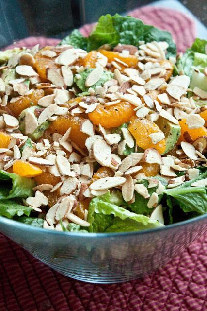 Healthy Mandarin Almond Salad