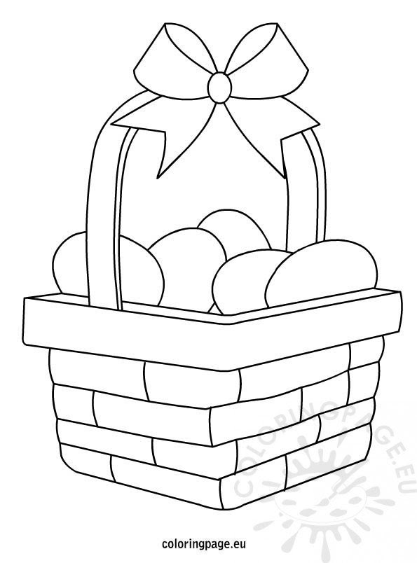 Easter Egg Basket coloring page - Coloring Page