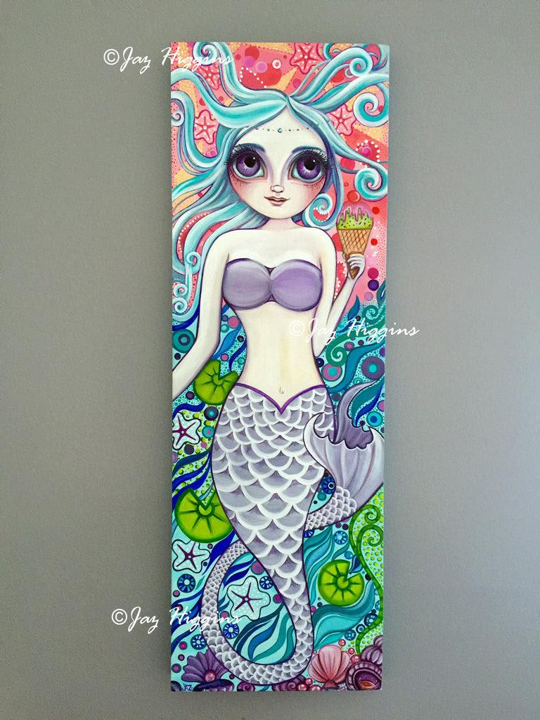 """""""Ice Cream Fantasy"""" Mermaid Original Painting"""
