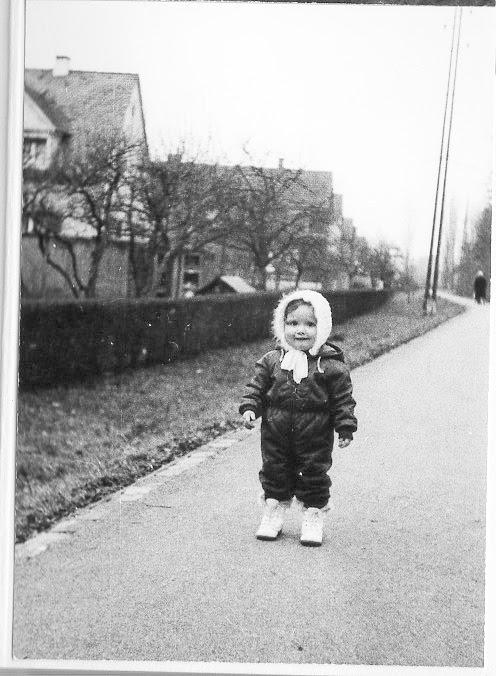Letizia auf dem Fischerweg 2.1.1971