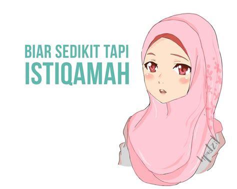 top gambar kartun muslimah  kata kata hikmah