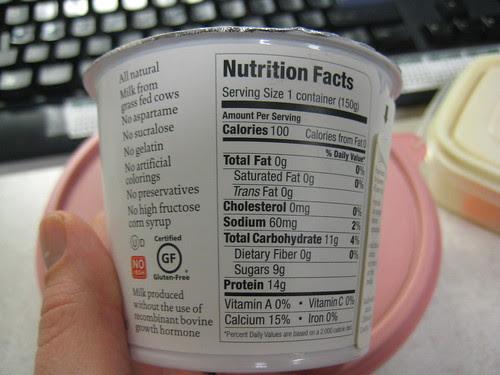 Siggi's strawberry yogurt nutrition stats