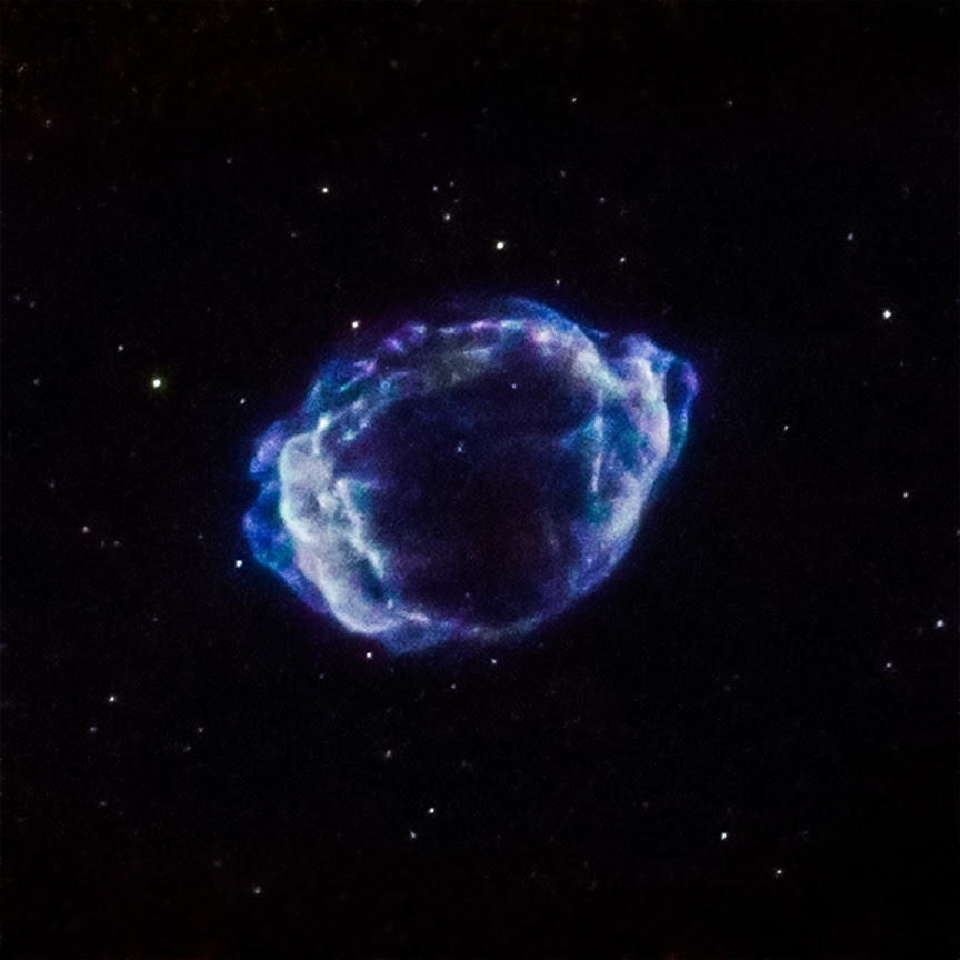 A supernova remnant located about 28,000 light years from Earth.