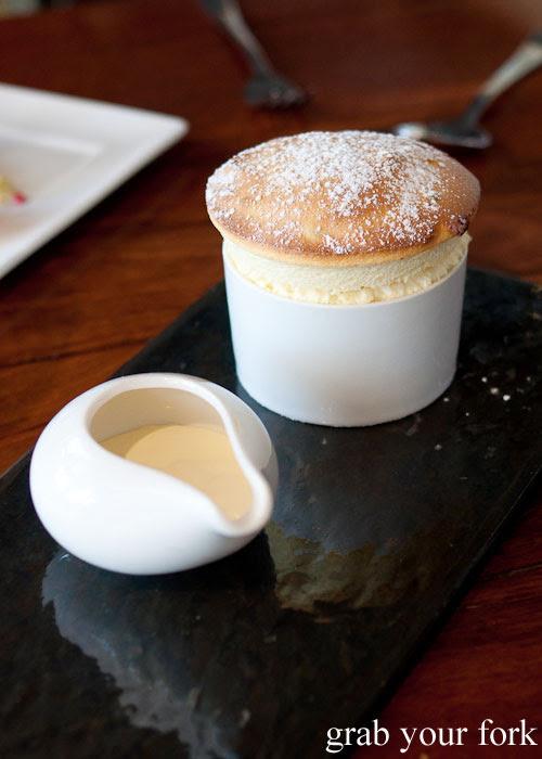 Passionfruit souffle at d'Arrys Verandah Restaurant, McLaren Vale
