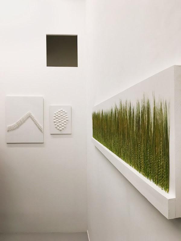 Vue d'exposition Cécile Hug, La Faneuse. Photo Clara Pagnussatt