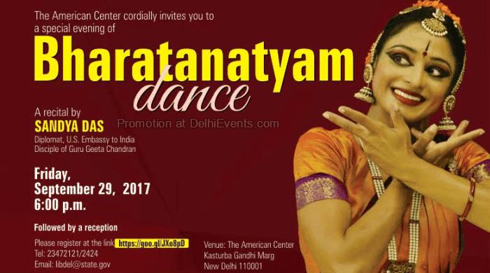 Bharatanatyam Dance Sandya Das American Center Creative