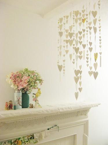 Hearts of paper DIY