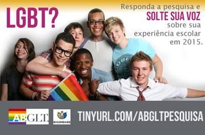 Pesquisa ABGLT 2015 grupo LGBT com bandeira