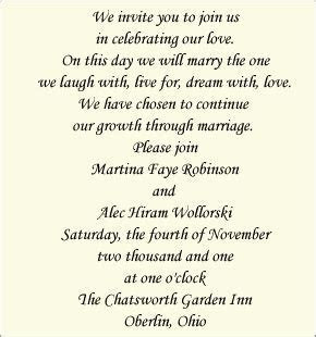 Wedding Invitation Wording: Bride and Groom Host (Modern