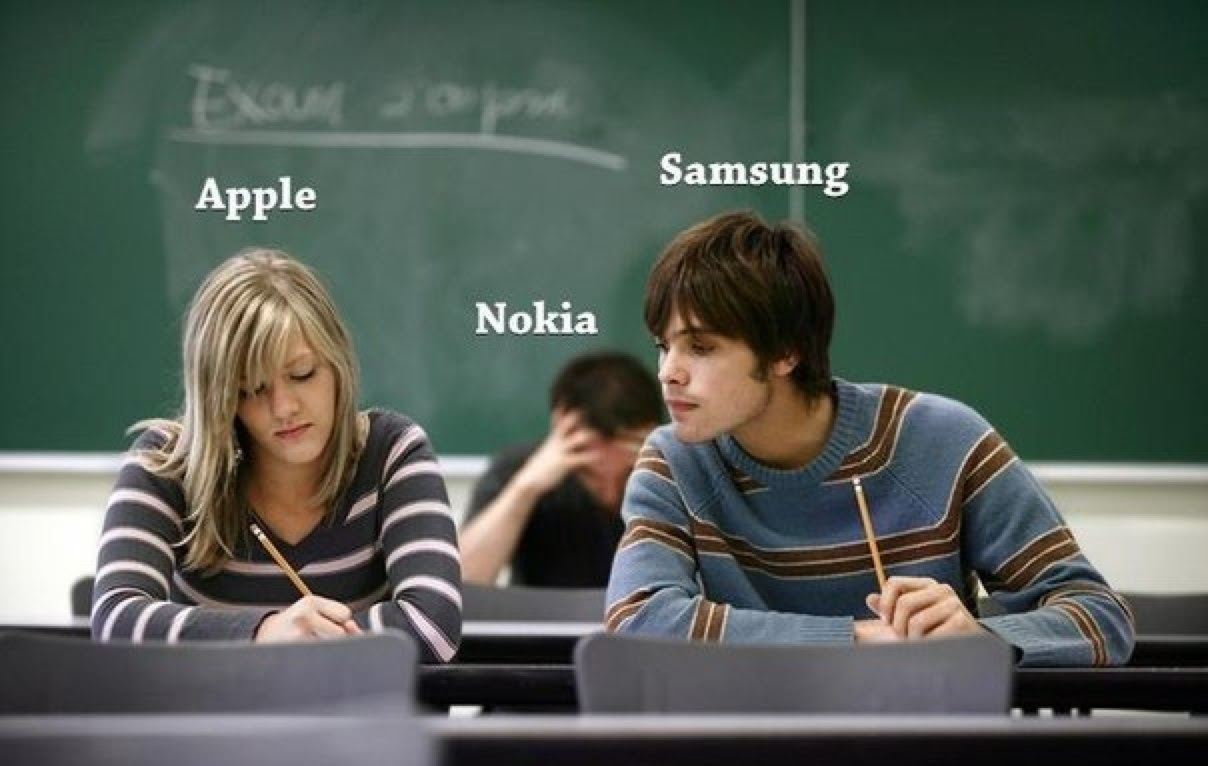 Sala de aula - Apple, Samsung e Nokia