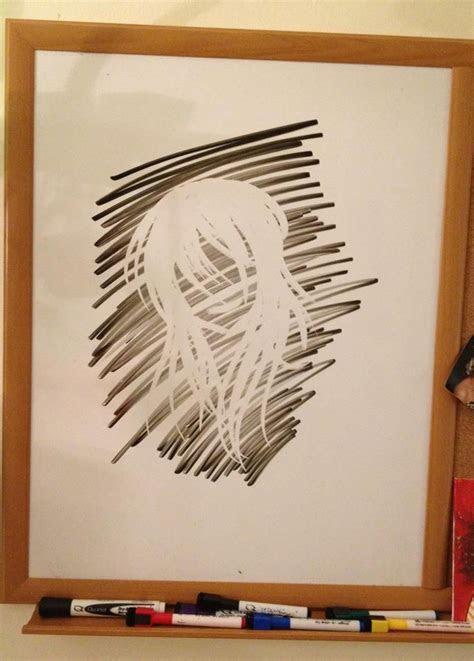 simple finger drawing  dry erase board art inspiration