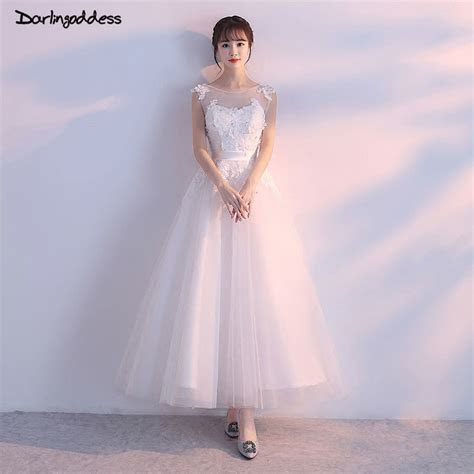Robe de Mariee Elegant Short A Line Wedding Dress 2018