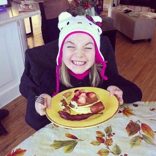 Happiness is ... #pancakes #saturdayafterthanksgiving #breakfast #breakfastfeast #hellokitty #happinnessis