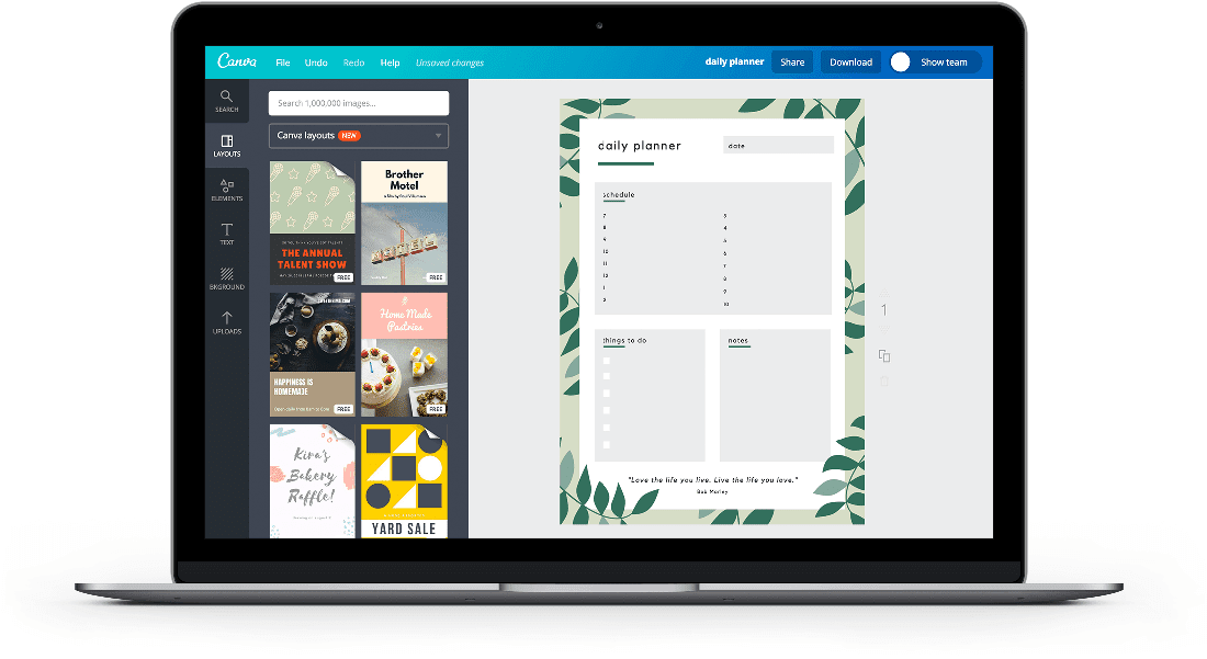 Free Online Daily Planner Maker: Design a Custom Daily Planner - Canva