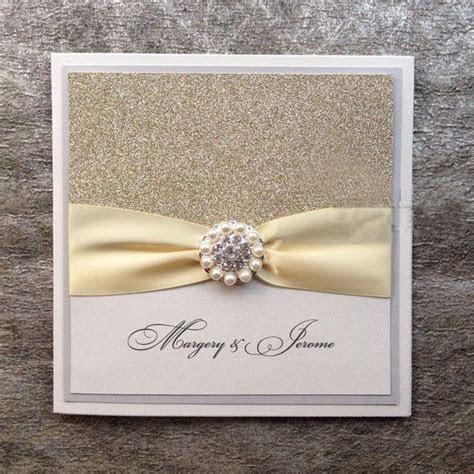 Silver Glitter Wedding Invitations   Handmade Invitations