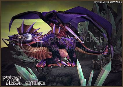 Postcards of Azeroth: Sintharia, by Rioriel of theshatar.eu