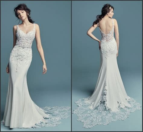 China Mermaid Bridal Gowns Spaghetti Straps Lace Wedding