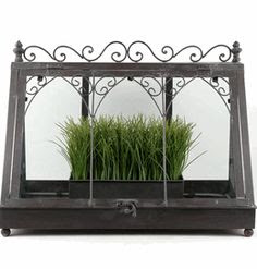 18 Vintage Metal & Glass Tabletop Terrarium $39.99.....WANT!!!! (Fill with terra cotta pots w/herbs)