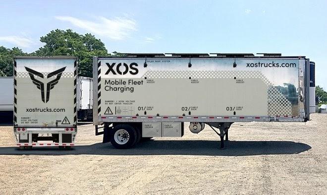 Компания Xos разработала передвижную зарядную станцию для электромобилей