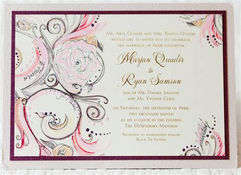 Wedding Invitations   Wedding Invitation Wording   Inside