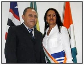 Francisco Bosco do Nascimento, vice-prefeito e Luzivete Botelho da Silva, prefeita de Itinga