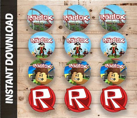 Editable Instant Download 2 inch Cake Toppers Roblox