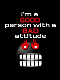 I Am A Good Person With Bad Attitude Quotespicturescom