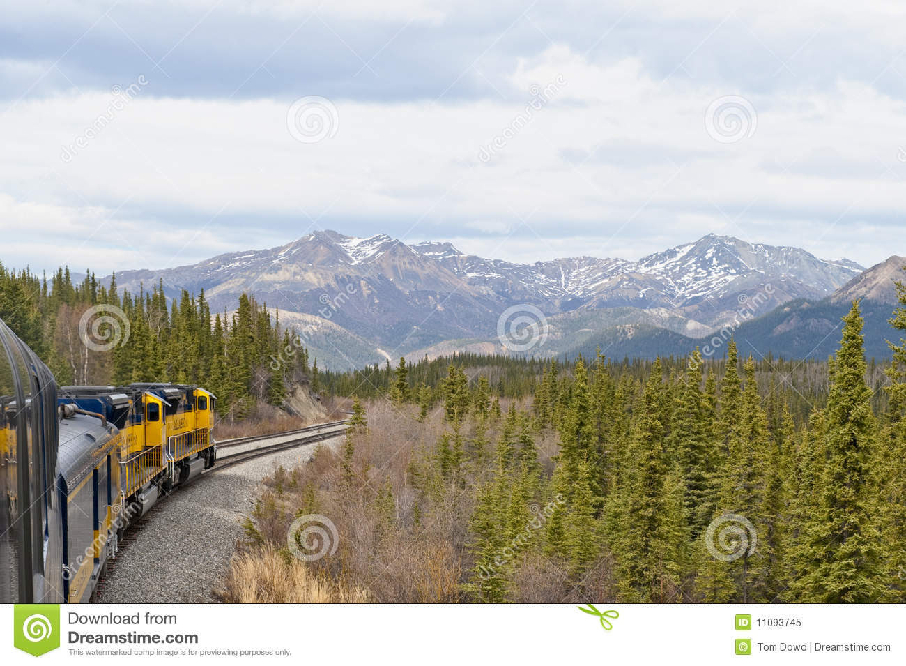 Train In Alaskan Wilderness Royalty Free Stock Photo  Image: 11093745
