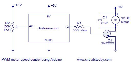dc motor speed control using arduino