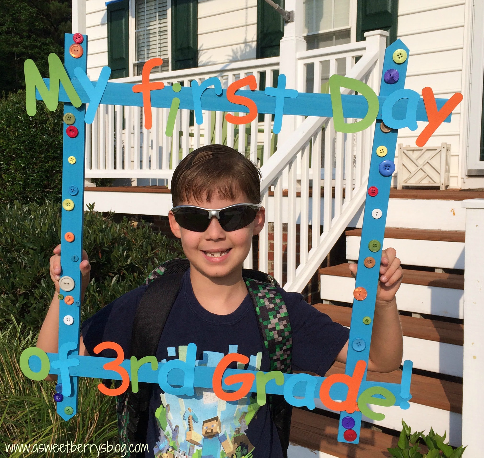 Back To School Frame 1 Large Size Party Box