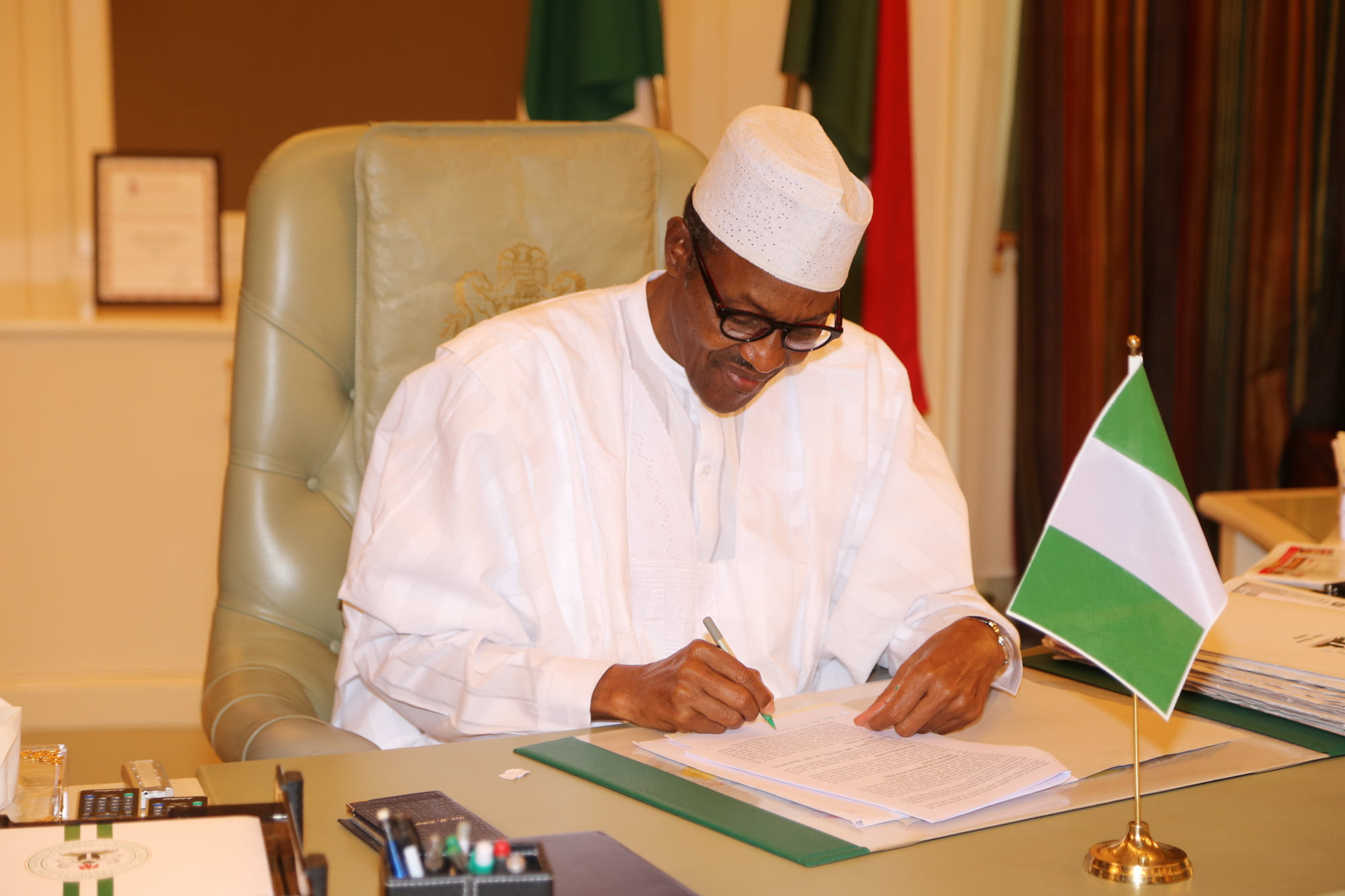 Image result for Buhari writing
