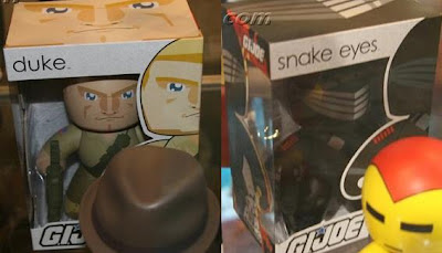 G.I. Joe Mighty Muggs - Duke Mighty Mugg in Package and Snake Eyes Mighty Mugg in Package