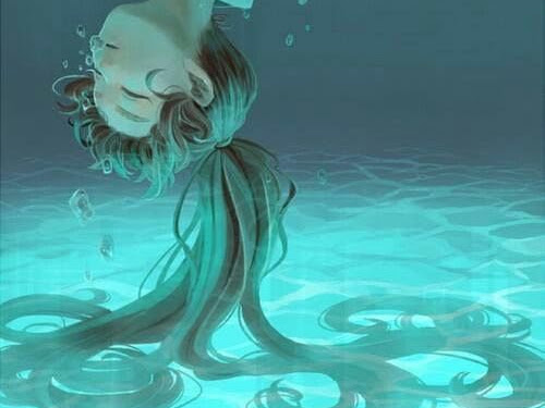 Anime Ocean Girl Drawing