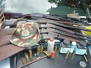 Material apreendido pelo Cipoma (Foto: Divulgação/Polícia Militar)