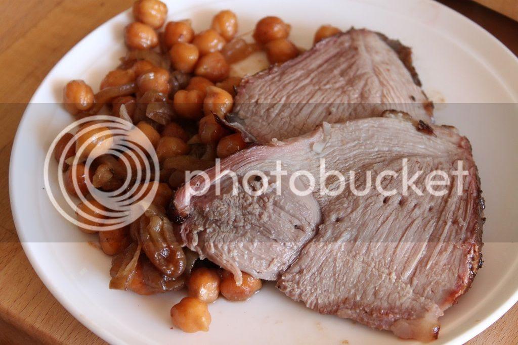 An Australia Day Roast - Roast Lamb with Aperol Chickpeas