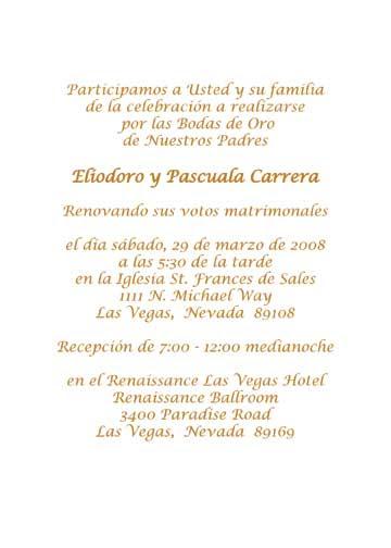Por Wedding Invitation Blog Sample Invitations Spanish