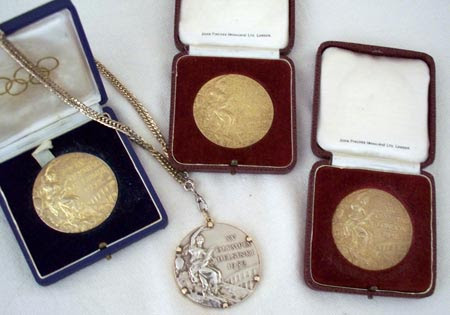 Harrison Dillard's 4 Olympic Gold Medals (photos by Debbie Hanson)