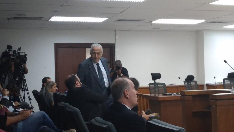 Eurico Miranda compareceu a julgamento do Vasco no STJD (Foto: Vicente Seda)