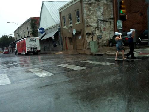 rainstorm downtown