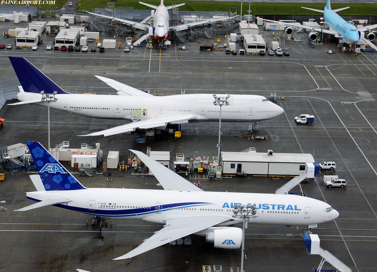 Air Austral's second Boeing 777-29M(LR) in Seattle, USA