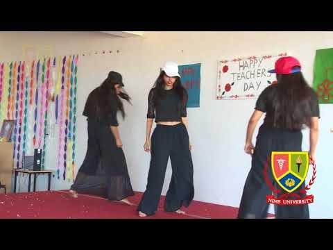 Nims Girls Dance : Shila Ki Jawani Black Dress - Teachers Day - Nims University