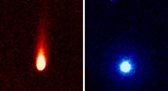 These images from NASA's Spitzer Space Telescope of C/2012 S1 (Comet ISON) were taken on June 13, when ISON was 310 million miles (about 500 million kilometers) from the sun. Image credit: NASA/JPL-Caltech/JHUAPL/UCF