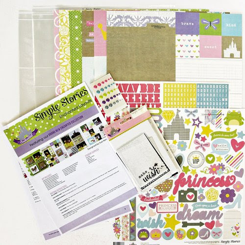 Simple Stories - Enchanted Collection - 12 x 12 Layout Class Kit