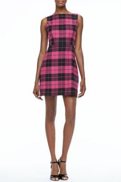 Alice and Olivia Jolie Plaid A-Line Dress