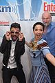dominic cooper ruth negga get playful at comic con lounge 03