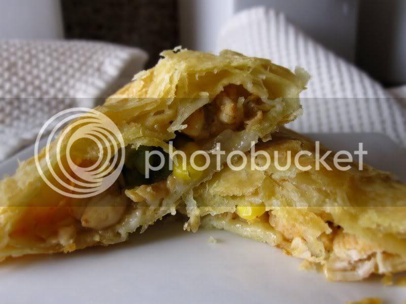 Chicken Pot Pie Turnover